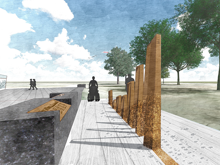 Artistic Rendering of Afghanistan Memorial East View