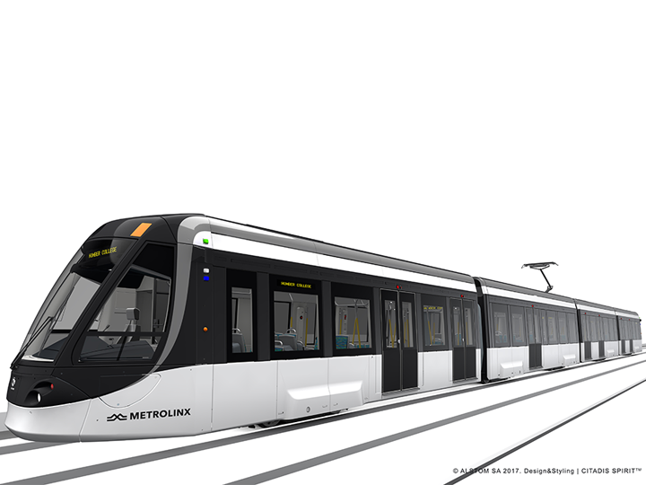 Artistic Rendering of Finch West LRT