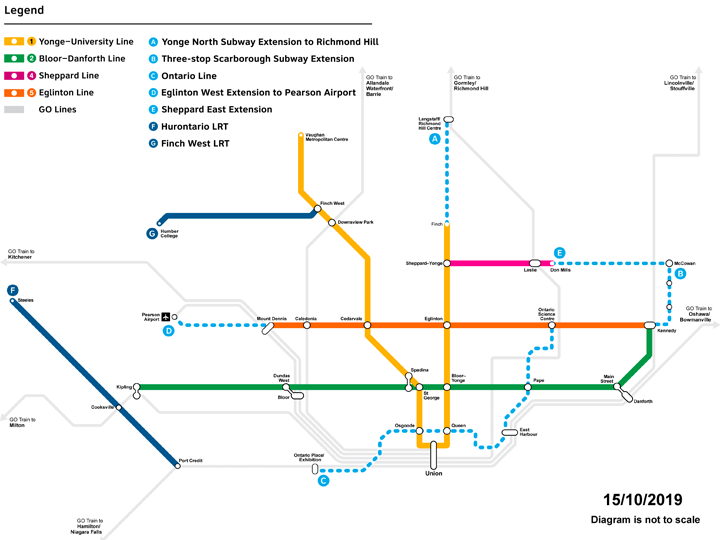Network Map of new subway line